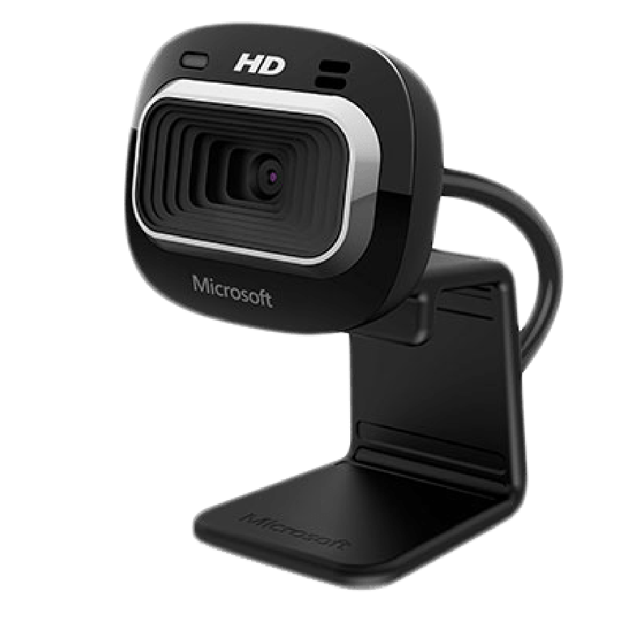 Microsoft LifeCam HD-3000 Webcam for Business, 4.0MP, 720p HD, 16:9,  Mic, Brown Box