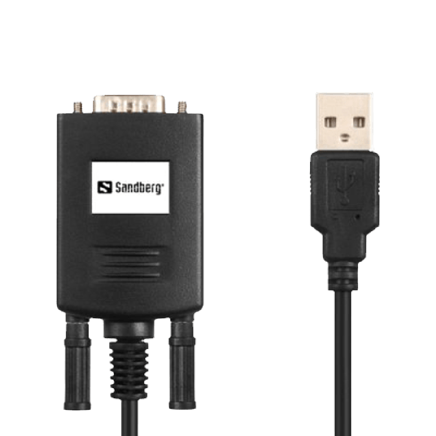 Sandberg USB Male to RS232 Serial Male Adapter - Black