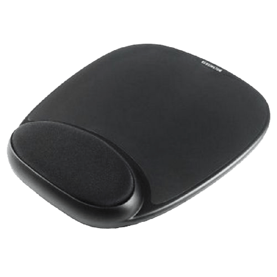 Jedel Mouse Pad with Ergonomic Wrist Rest - Black