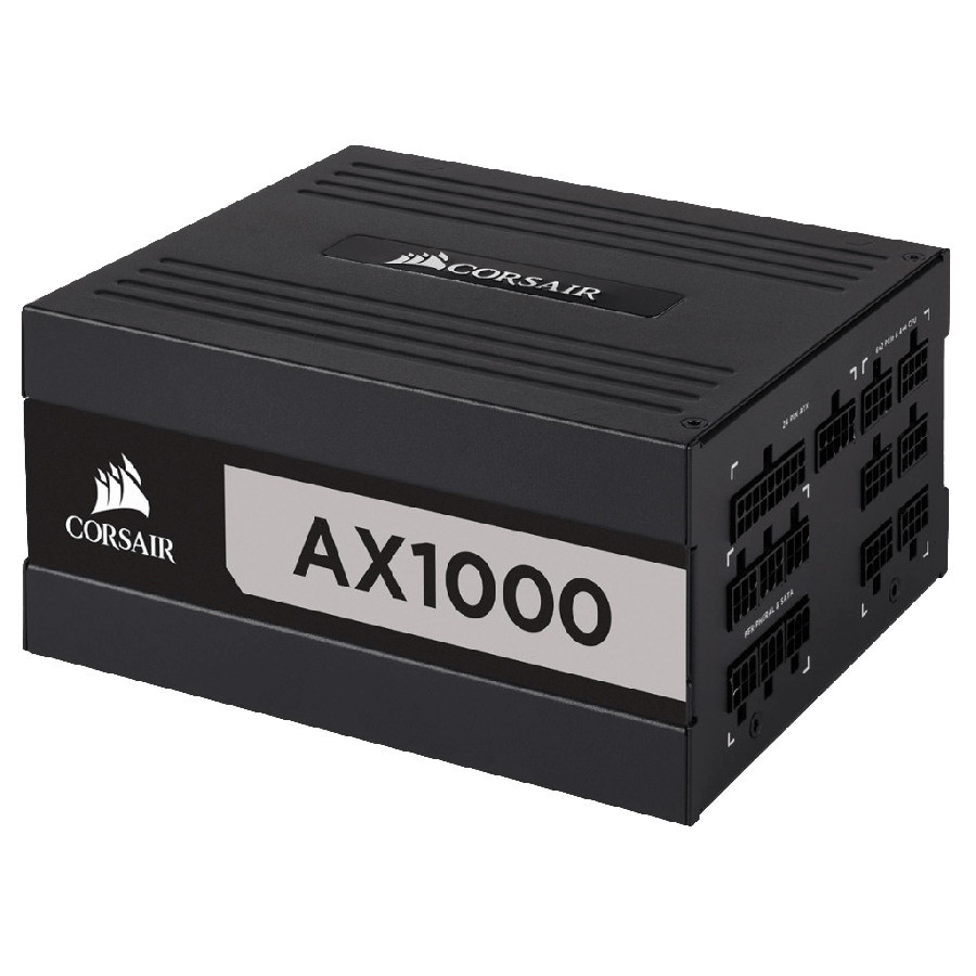 Corsair 1000W AX Series AX1000 PSU, Fluid Dynamic Fan, Fully Modular, 80+ Titanium