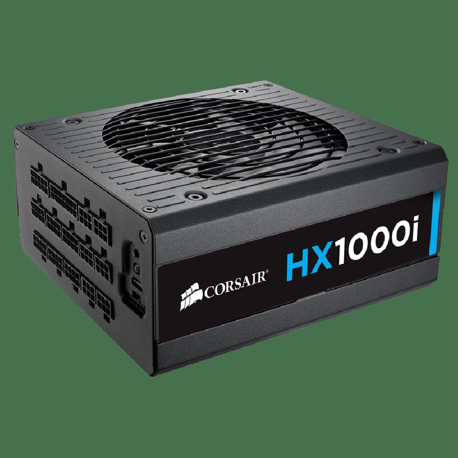 Corsair 1000W Professional Series HX1000i High Performance PSU, Fluid Dynamic Fan, Fully Modular, 80+ Platinum