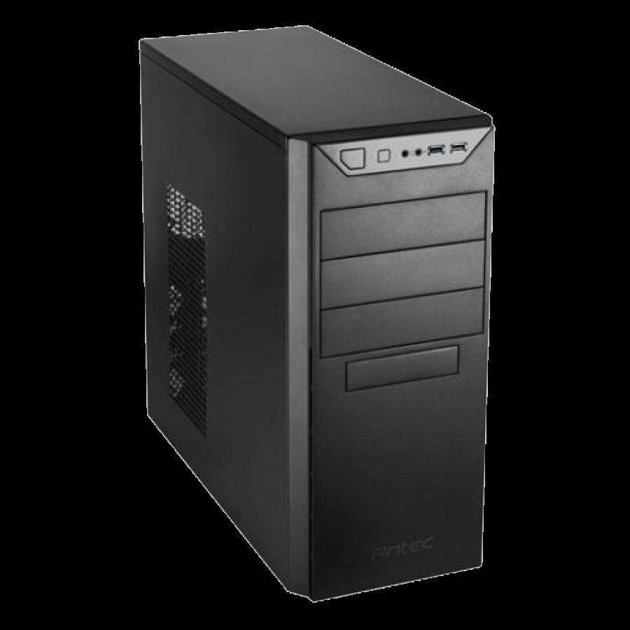 Antec VSK4000B U3/U2 ATX Case, No PSU, 12cm Fan, USB 3.0, Black with Black Interior