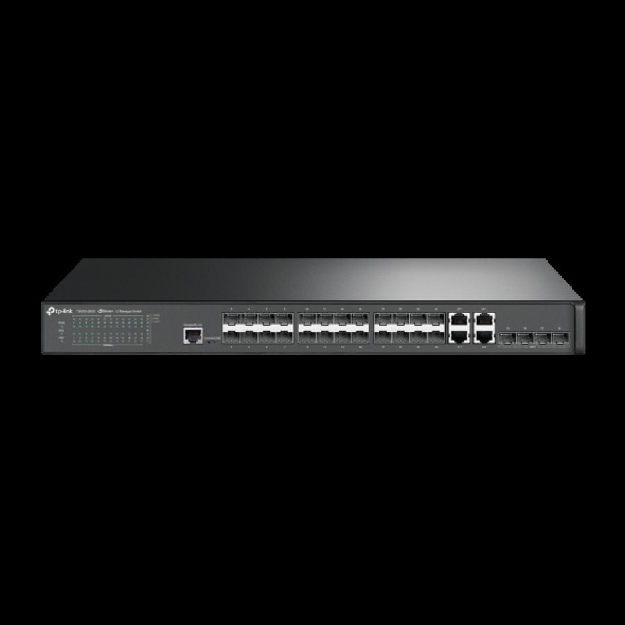 TP-Link (T2600G-28SQ) JetStream 28-Port Gigabit L2 Managed Switch with 10 SFP Slots