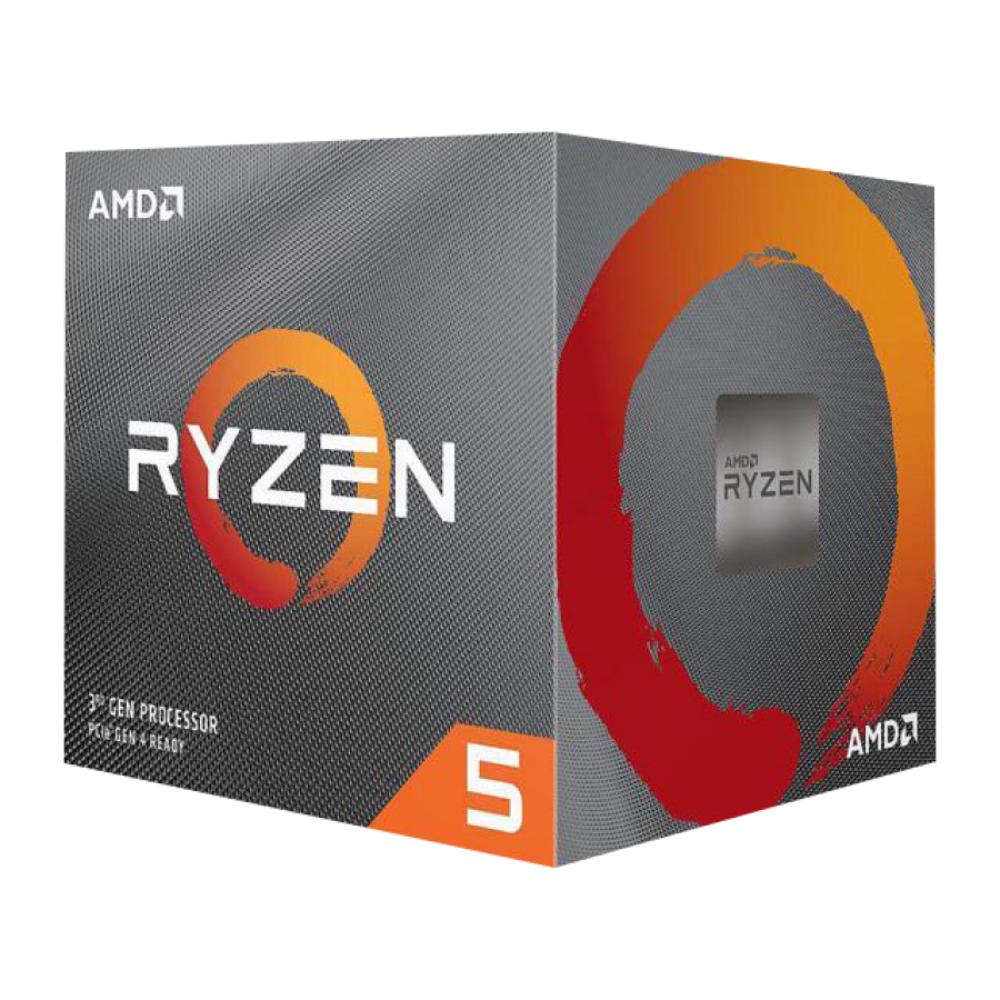 AMD Ryzen 5 3600X CPU with Wraith Spire Cooler, AM4, 3.8GHz (4.4 Turbo), 6-Core, 95W, 35MB Cache, 7nm, 3rd Gen, No Graphics