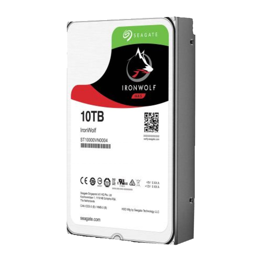 """Seagate 3.5"""", 10TB, SATA3, IronWolf Pro NAS Hard Drive, 7200RPM, 256MB Cache, 2 Yr Data Recovery Service"""