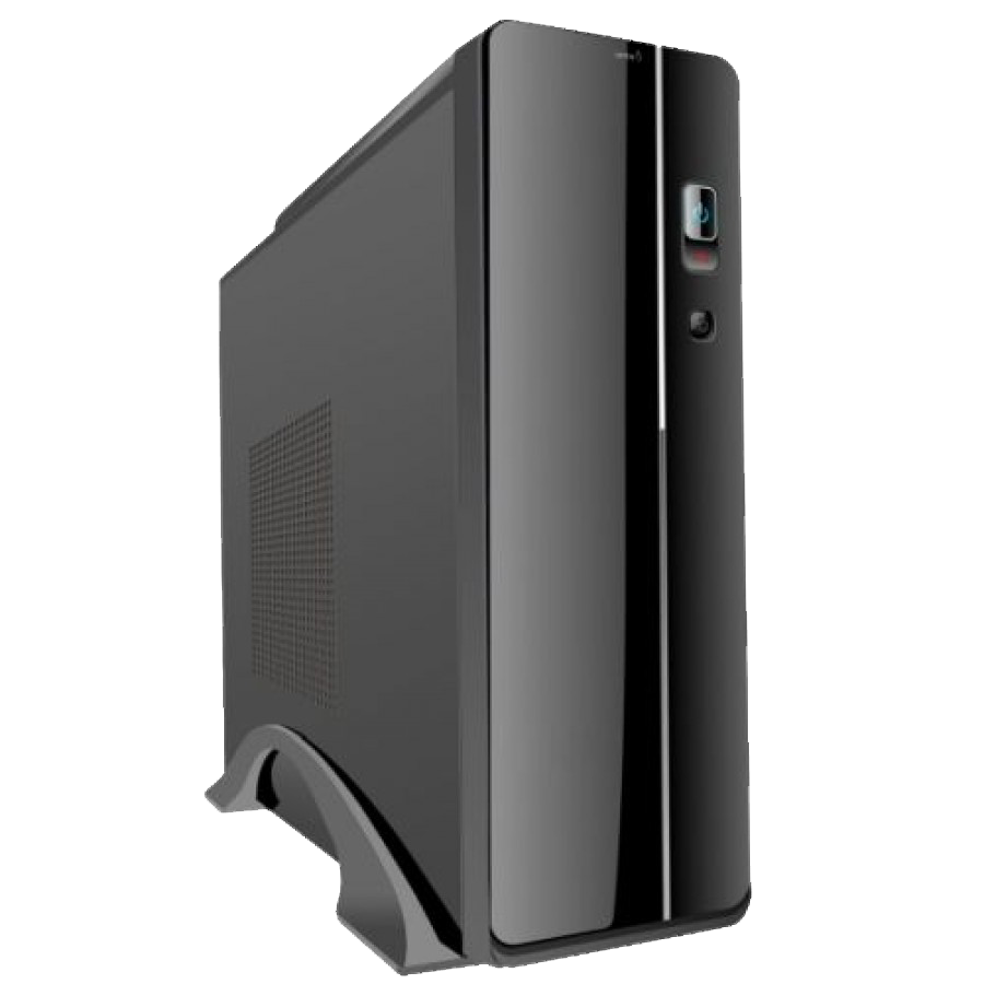 Spire Micro ATX Slimline Desktop Case, 300W, 8cm Fan, USB 2.0, Black