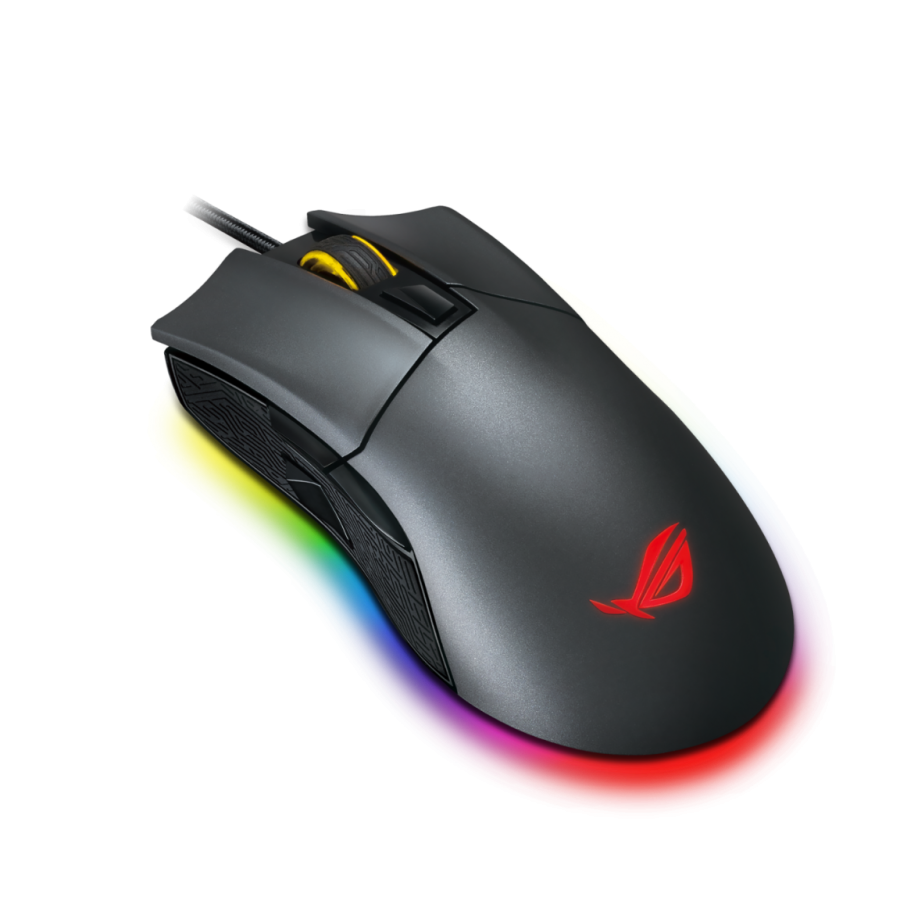Asus ROG Gladius II Origin Gaming Mouse with RGB Lighting - Black
