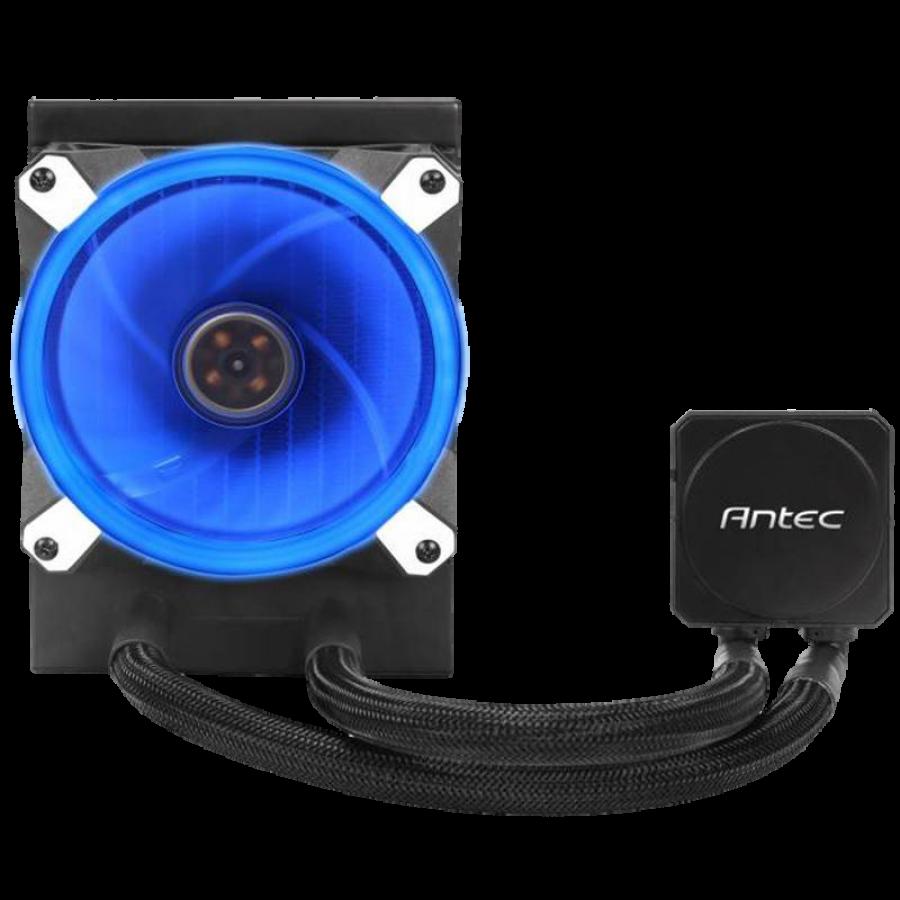 Antec Kuhler H20 K120 Liquid CPU Cooler, 12cm PWM Blue LED Fan, Low Profile