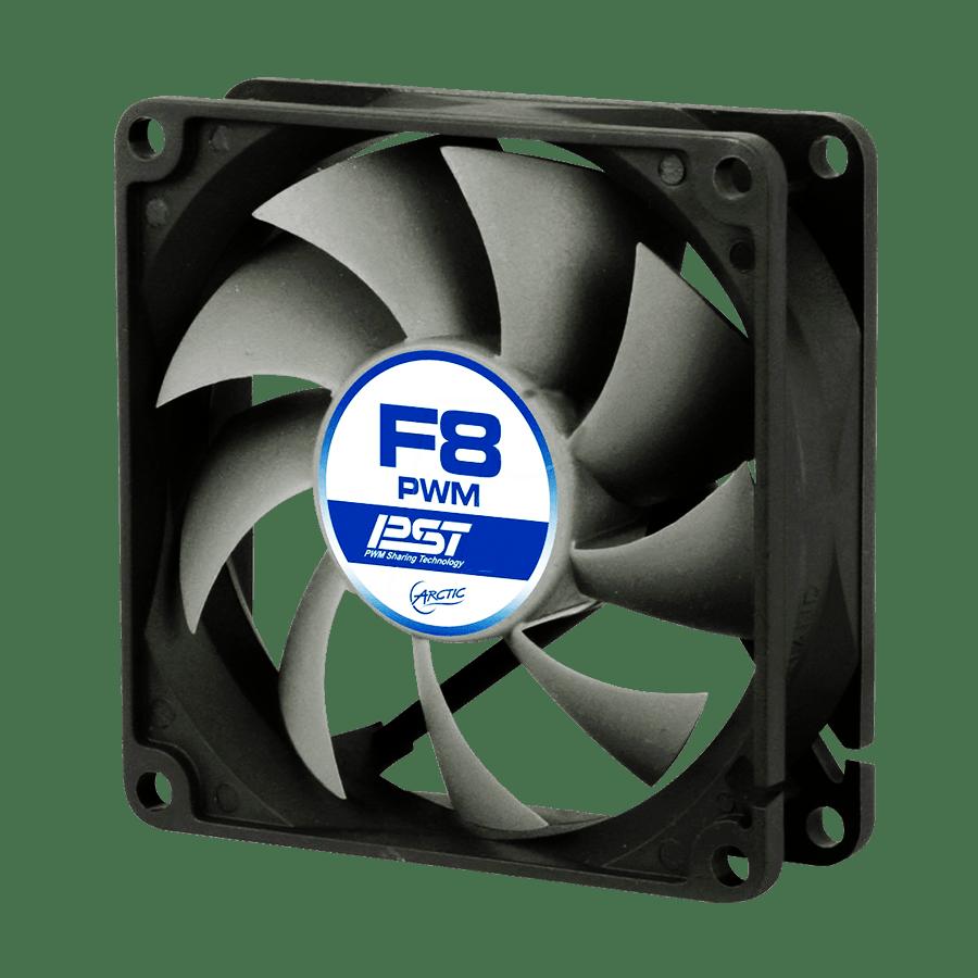 Arctic F8 8CM PWM PST Case Fan, Fluid Dynamic - Black & White