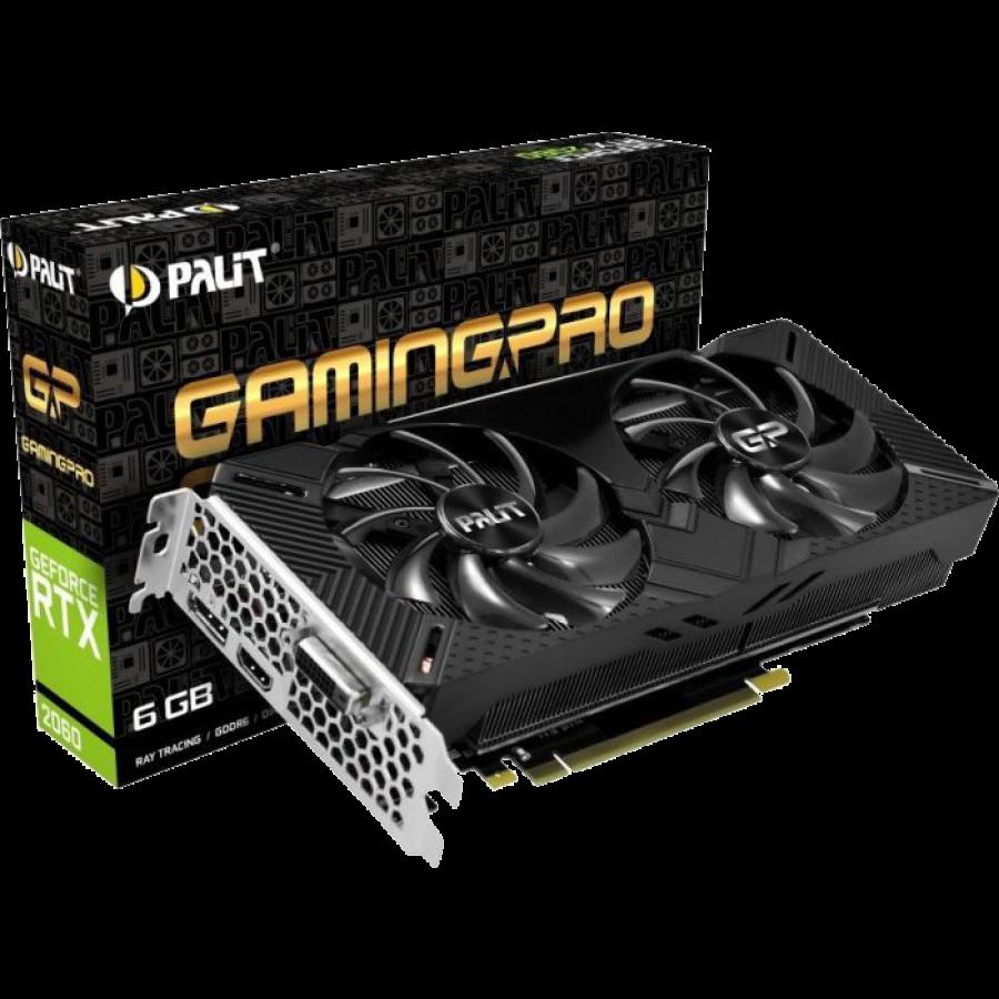 Palit RTX2060 Gaming Pro OC, 6GB DDR6, DVI, HDMI, DP, 1830MHz Clock