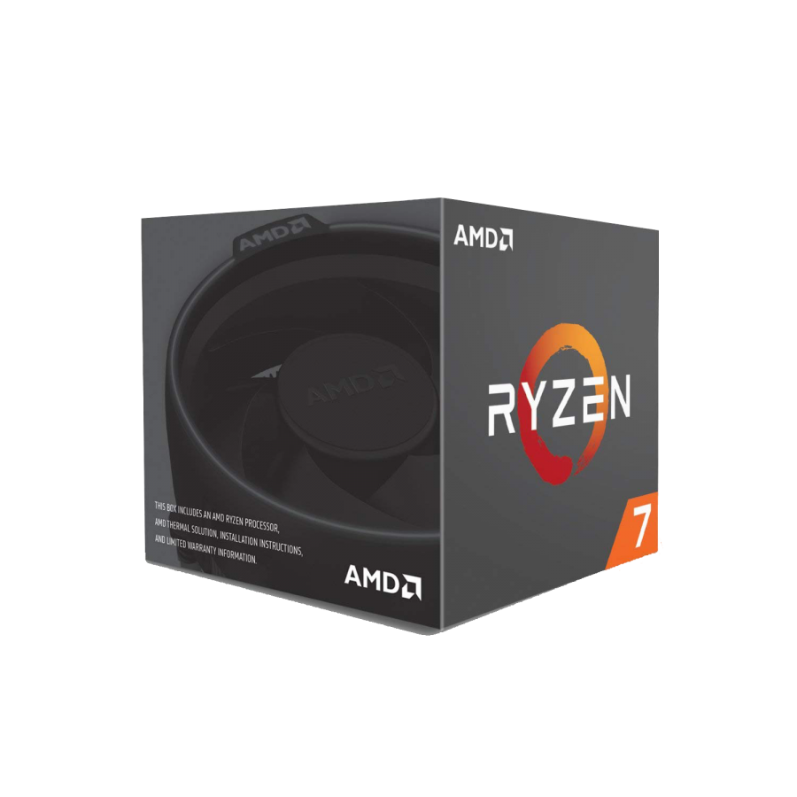 AMD Ryzen 7 2700 CPU with Wraith Cooler, AM4, 3.2GHz (4.1 Turbo), 8-Core, 65W, 20MB Cache, 12nm, RGB Lighting, No Graphics