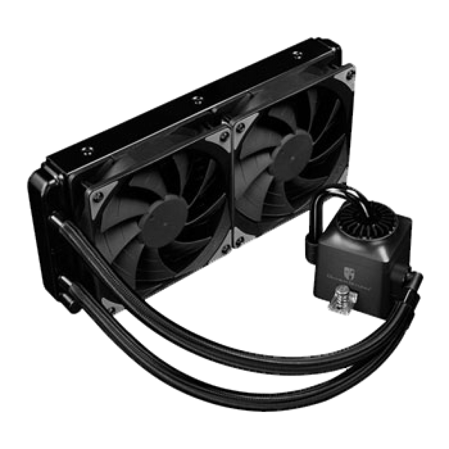Deepcool GamerStorm Captain 240EX RGB Liquid CPU Cooler, 240mm Radiator, 2 x 12cm Fans, RGB Lighting, Aura Sync