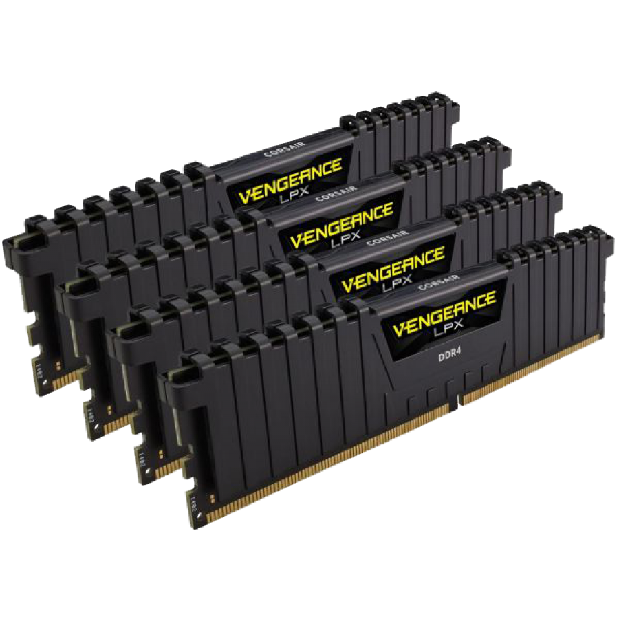 Corsair Vengeance LPX 16GB Kit (4 x 4GB), DDR4, 3000MHz (PC4-24000), CL16, XMP 2.0, DIMM Memory