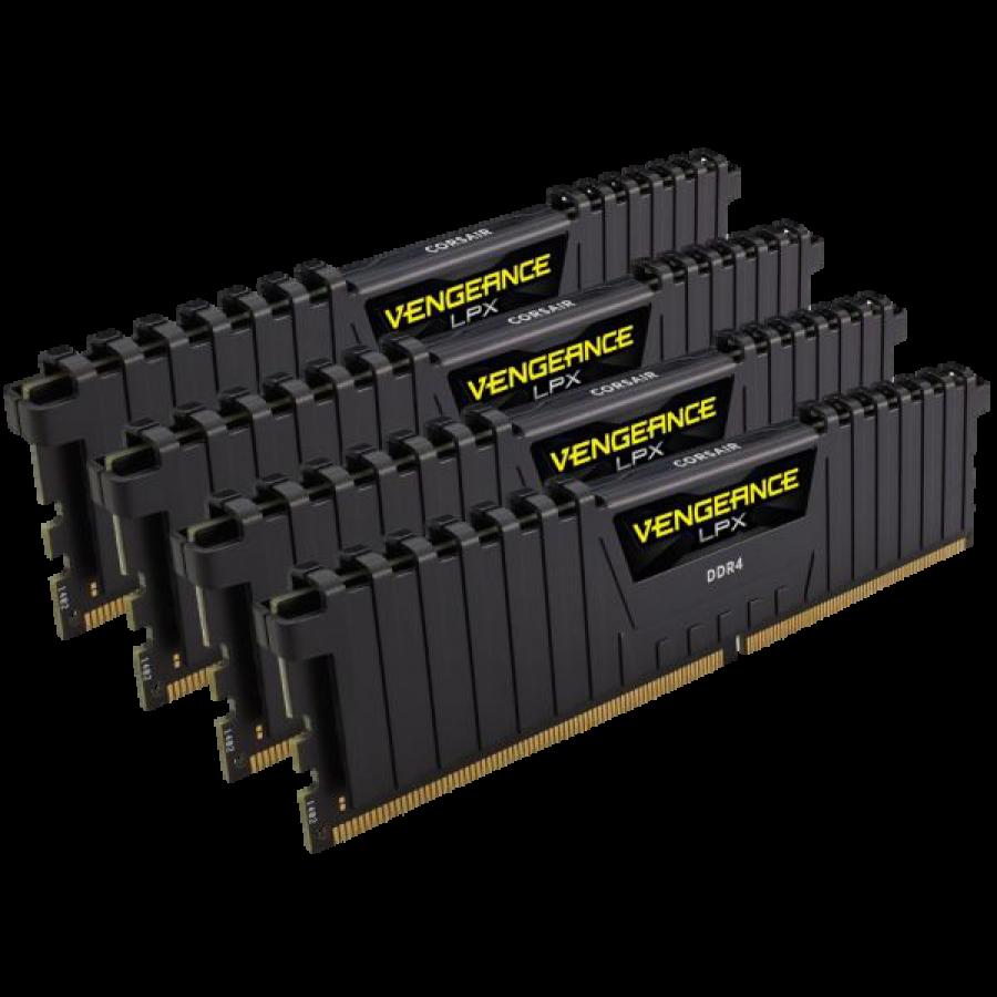 Corsair Vengeance LPX 16GB Kit (4 x 4GB), DDR4, 2400MHz (PC4-19200), CL16, XMP 2.0, DIMM Memory