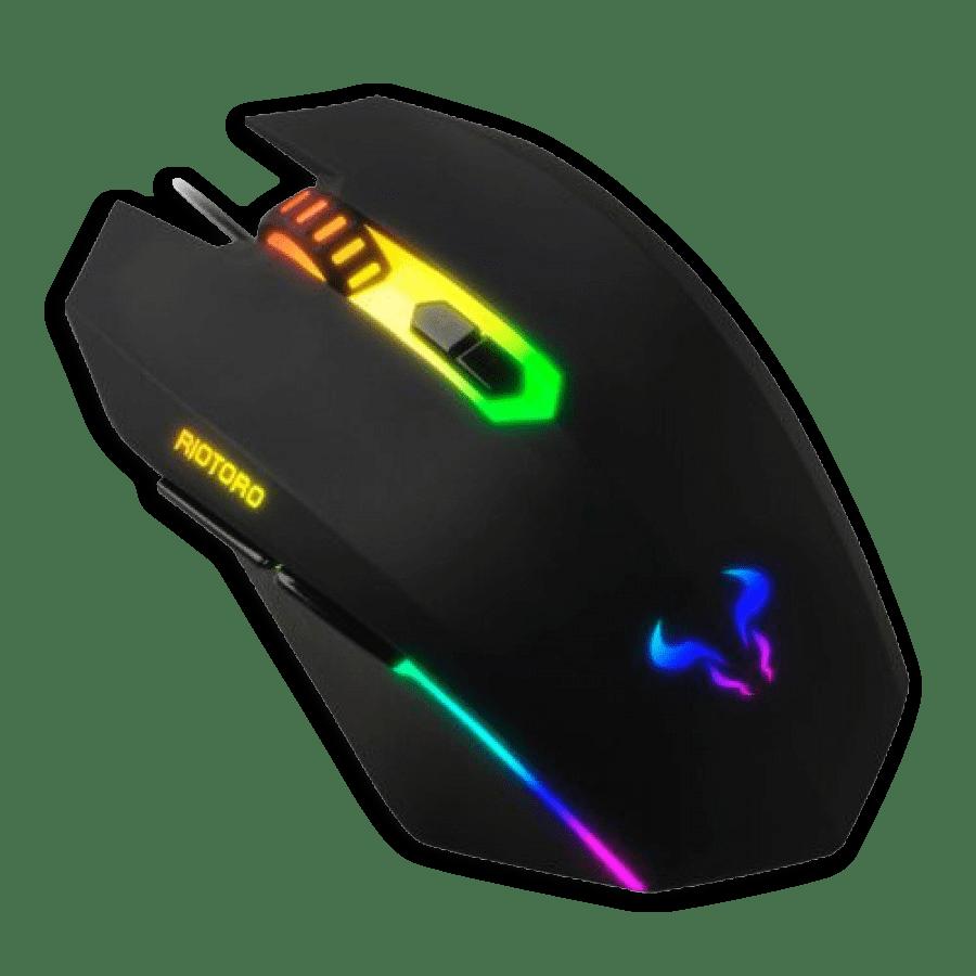 Riotoro URUZ Z5 Classic Wired Optical RGB Gaming Mouse - Black