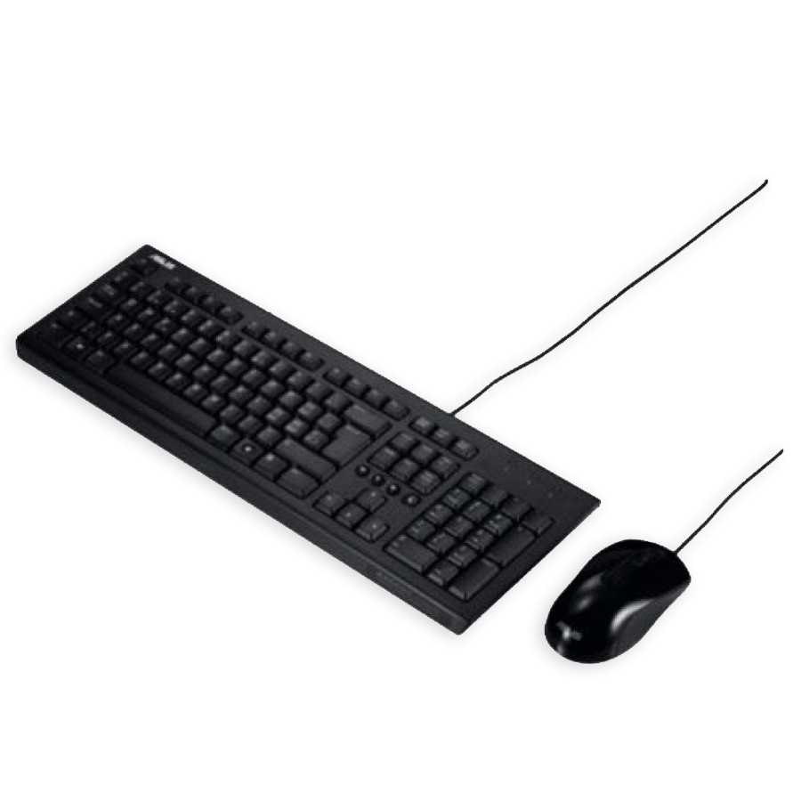 Asus U2000 Wired Keyboard and Mouse Kit - Black
