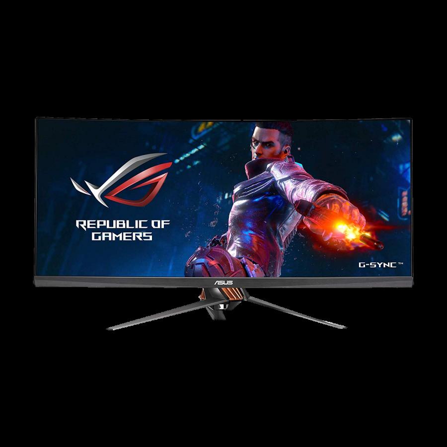 "Asus 34"" ROG Swift QHD Curved Gaming Monitor (PG348Q), 21:9, IPS, 3440 x 1440, HDMI, DP, 100Hz, G-SYNC, Lighting Effects, VESA"