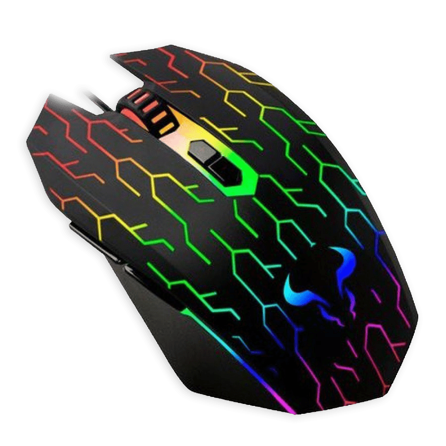 Riotoro URUZ Z5 Lightning Wired Optical Gaming Mouse - Black with RGB Lighting