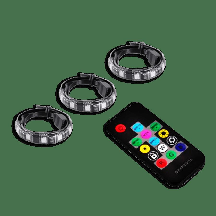 Deepcool RGB 380 Magnetic LED Light Strips (3X40CM), Remote, Multi-Color Flashing, RGB Sync Compatible