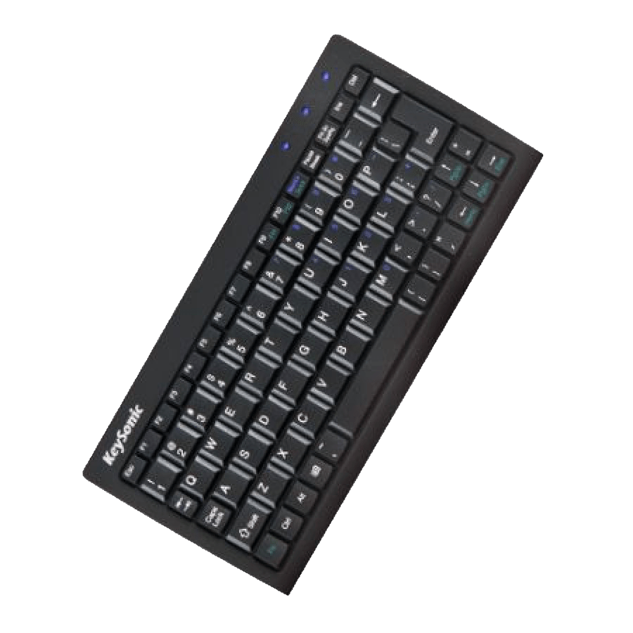 Keysonic ACK-3400U USB Wired Mini Keyboard - Black