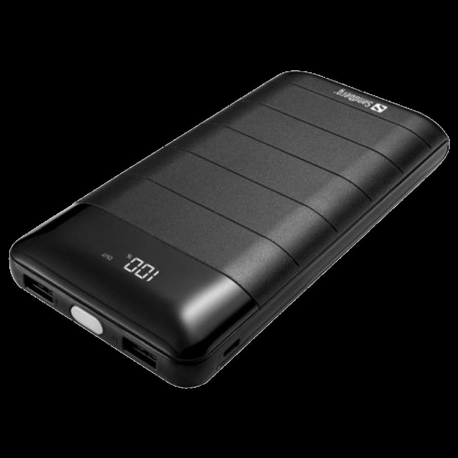 Sandberg (420-42) 20000mAh Powerbank 20000, Huge Capacity, Digital Display, 2 x USB, 5V