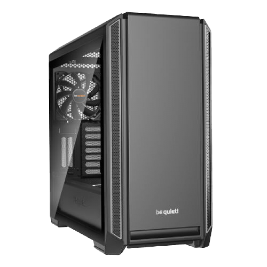 Be Quiet! Silent Base 801 Gaming Case with Window, E-ATX, No PSU, 3 x Pure Wings 2 Fans, PSU Shroud, Silver Trim