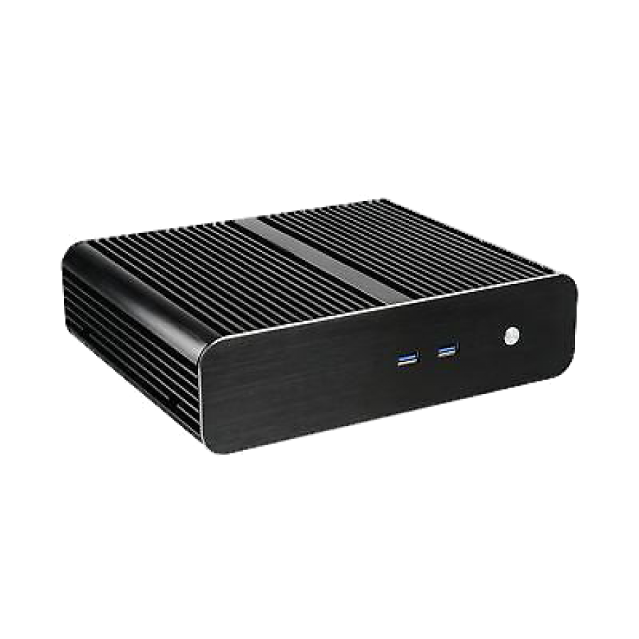 Akasa Euler TX Thin Mini ITX Case, No PSU, Fanless, Aluminium, VESA Mountable