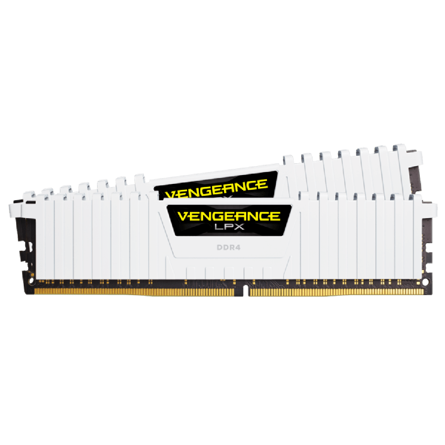 Corsair Vengeance LPX 16GB Kit (2 x 8GB), DDR4, 3000MHz (PC4-24000), CL15, XMP 2.0, DIMM Memory, White