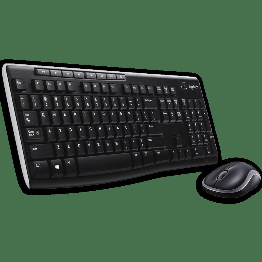 Logitech MK270 Wireless Keyboard and Mouse Kit - Black