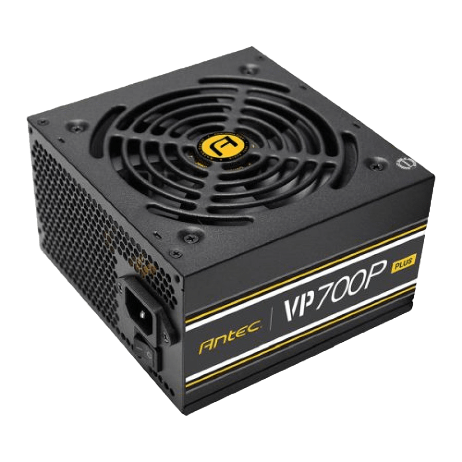 Antec 700W VP700P PLUS PSU, Fully Wired, 12cm Silent Fan, 80+ White, Continuous Power