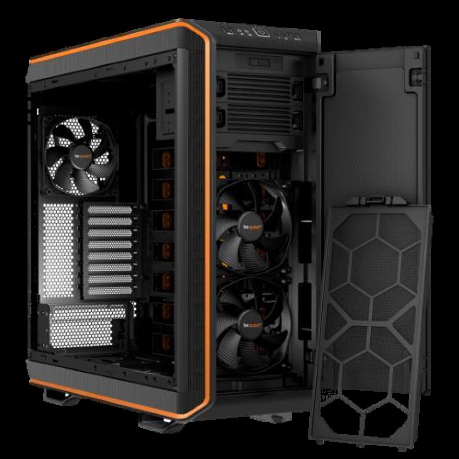 Be Quiet! Dark Base 900 Gaming Case, E-ATX, No PSU, Tool-less, 3 x Silent Wings 3 Fans, Modular Construction, Orange Trim