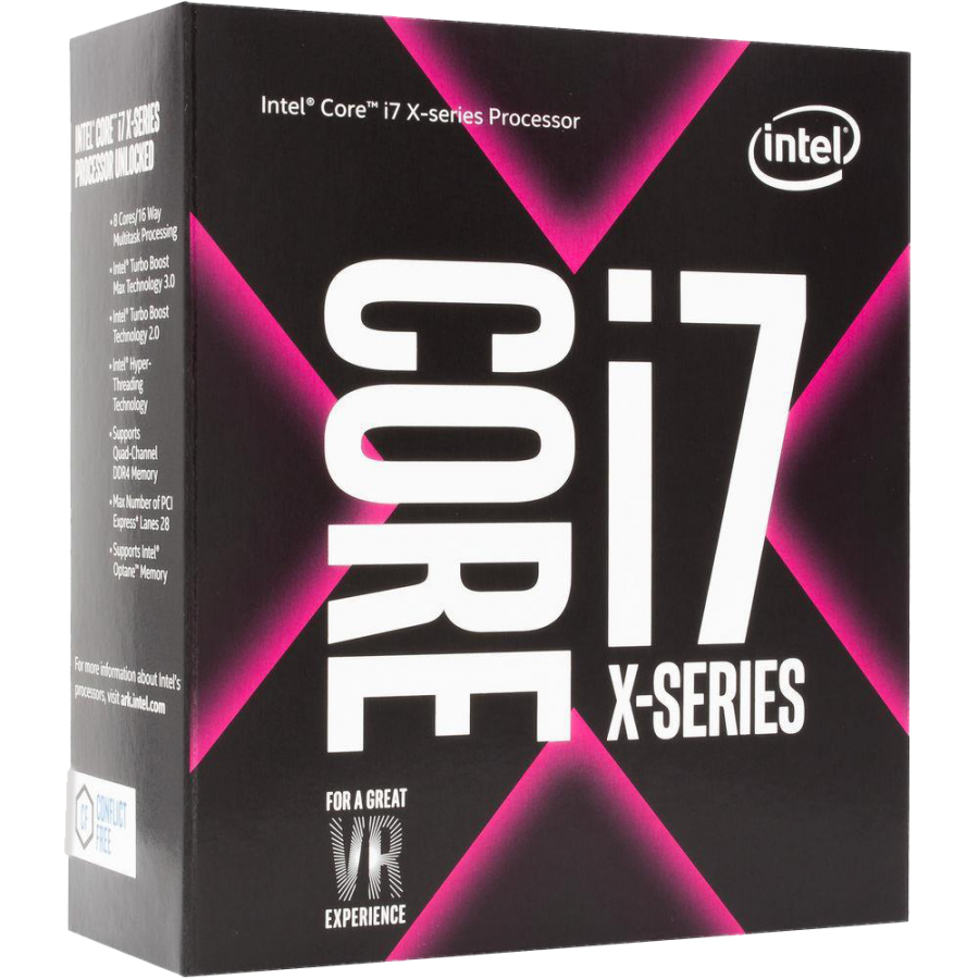 Intel Core i7-7740X CPU, 2066, 4.30GHz (4.5 Turbo), Quad Core, 112W, 8MB Cache, Overclockable, No Graphics, Sky Lake, NO HEATSINK/FAN