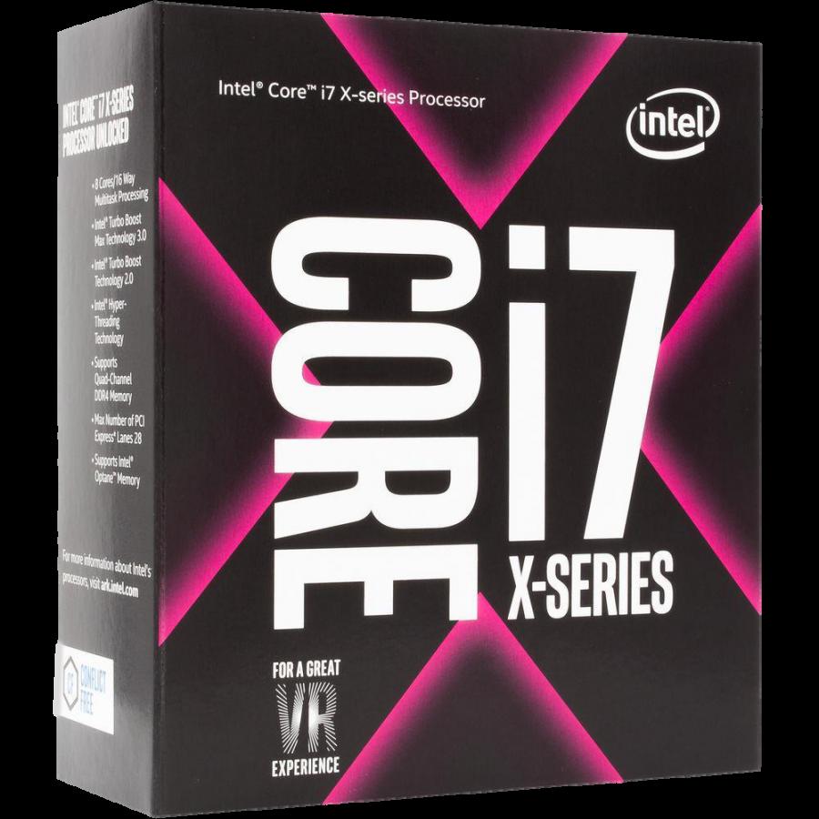 Intel Core i7-7820X CPU, 2066, 3.60GHz (4.3 Turbo), 8-Core, 140W, 11MB Cache, Overclockable, No Graphics, Sky Lake, NO HEATSINK/FAN