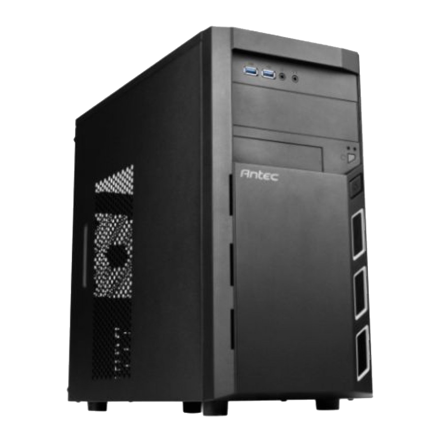 Antec VSK3000 Elite Micro ATX Case, No PSU, 12cm Fan, USB 3.0, Black