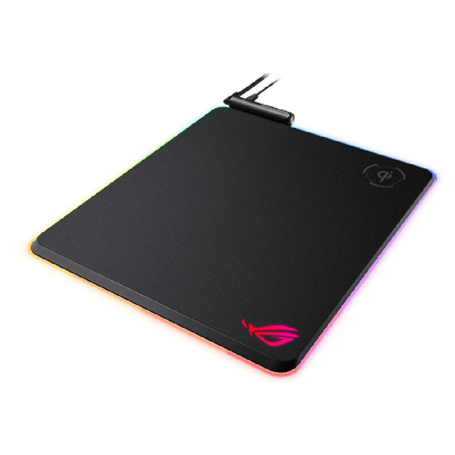 Asus ROG Balteus RGB Gaming Mouse Pad - Black with Qi Wireless Charging - Black