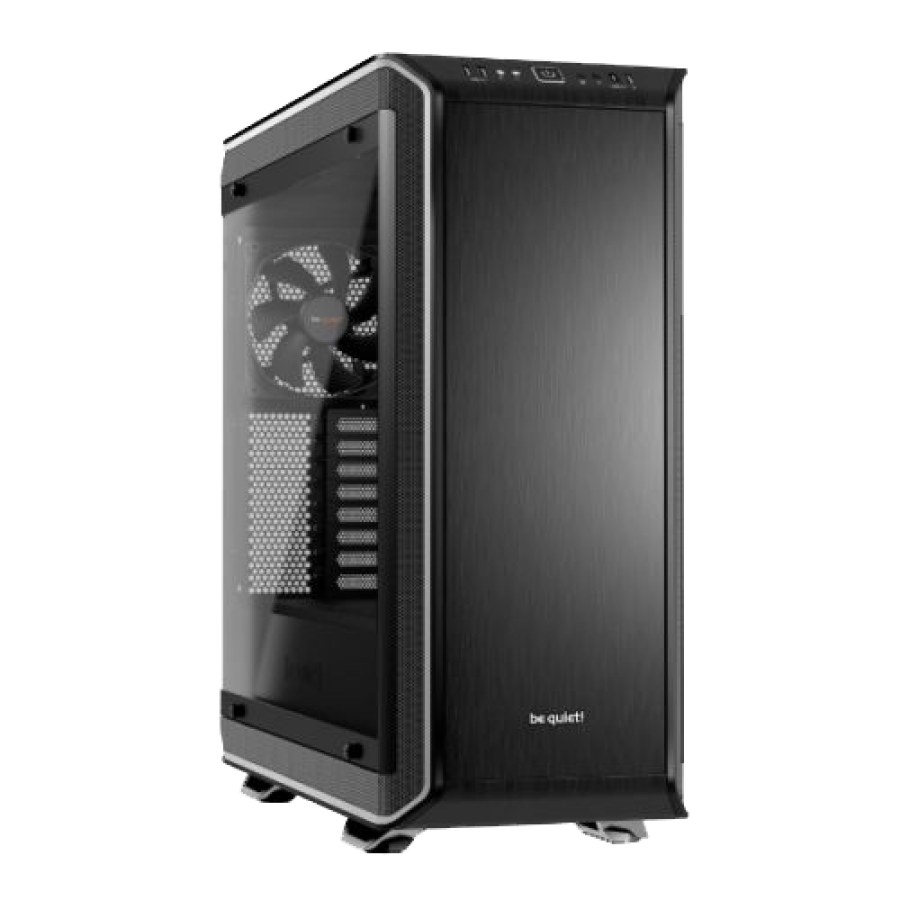 Be Quiet! Dark Base Pro 900 Rev2 Gaming Case, E-ATX, No PSU, PSU Shroud, 3 x Silent Wings 3 Fans, LEDs, Wireless Charger, Black