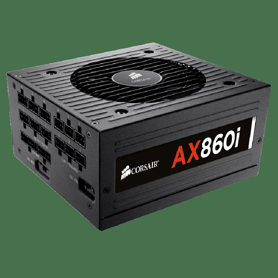 Corsair 860W Digital AX860i PSU, Dual Ball Bearing Fan, Fully Modular, 80+ Platinum