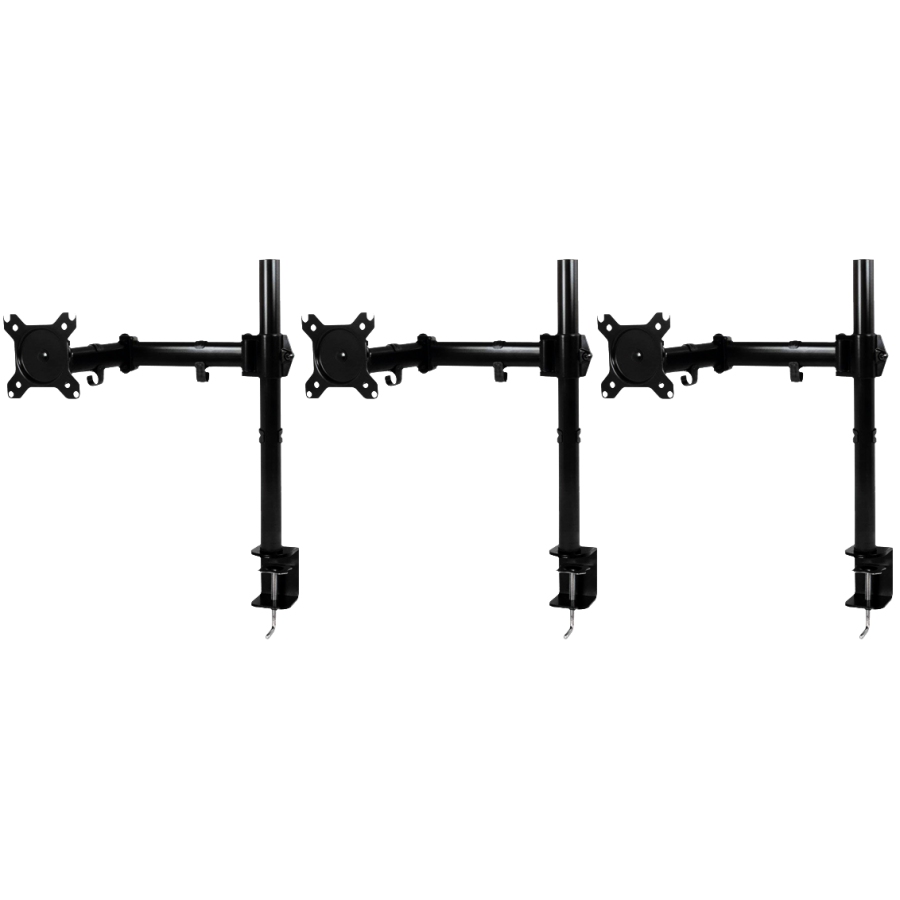 "Arctic Z3 Basic Triple Monitor Arms, 13"" - 43"" Monitors - Black"