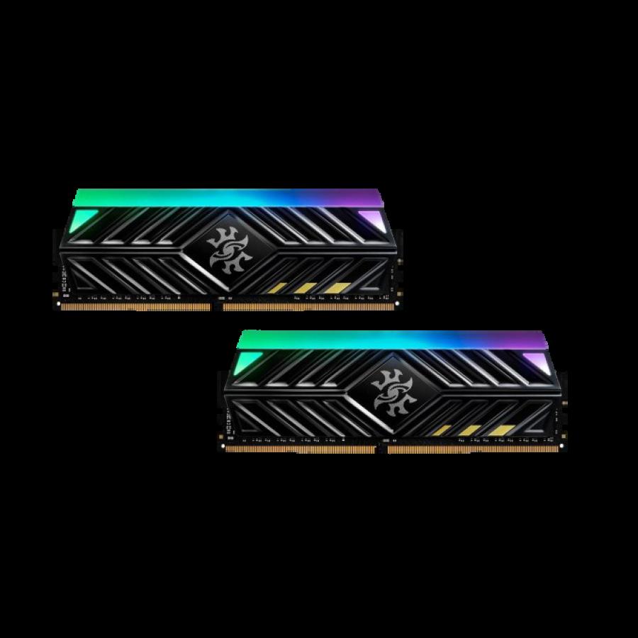 ADATA XPG Spectrix D41 RGB LED 16GB Kit (2 x 8GB), DDR4, 3200MHz (PC4-25600), CL16, XMP 2.0, DIMM Memory, Tungsten Grey