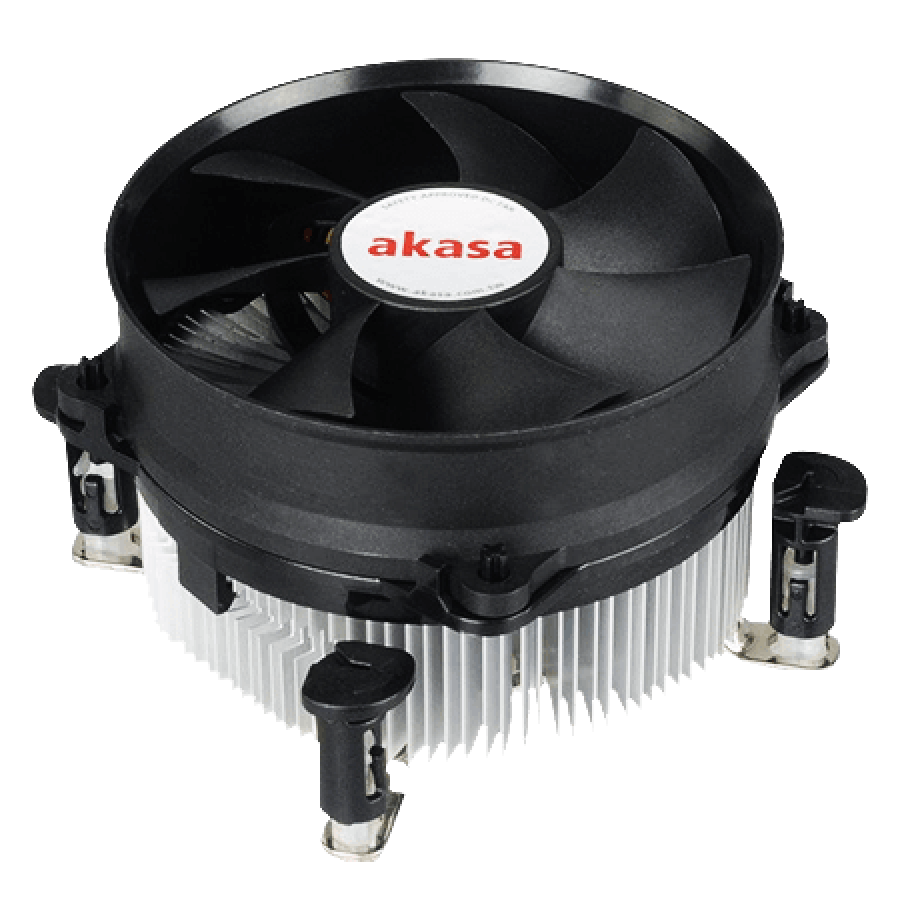 Akasa AK-7101CP, 775, 1151, 1155, 1156 Heatsink and Fan, PWM Fan, Ultra Quiet - Black