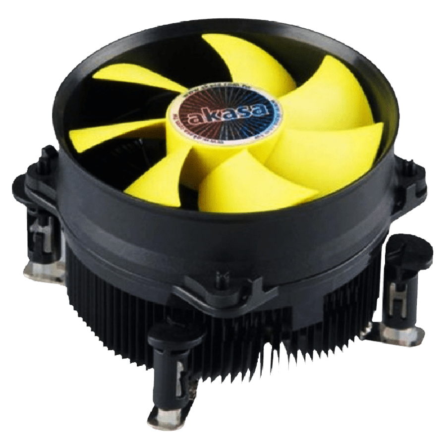 Akasa K32, 775, 1155, 1156, PWM Heatsink and Fan - Black & Yellow