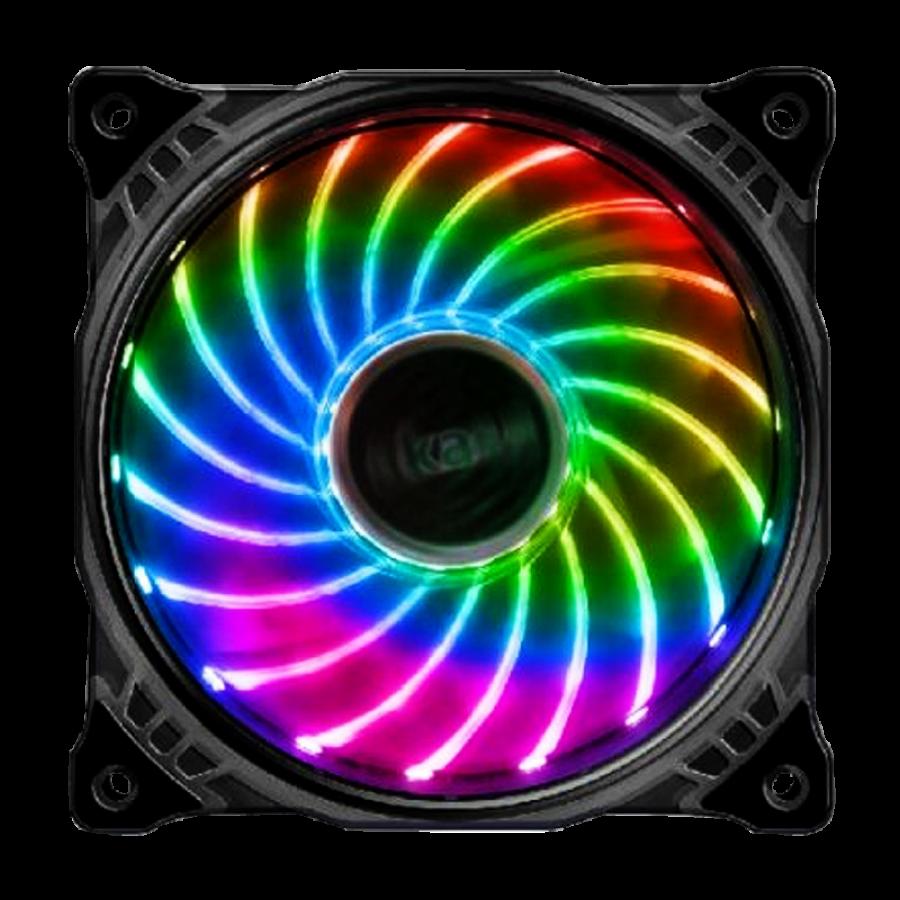 Akasa Vegas X7 12CM RGB Case Fan, Anti-Vibration, Fluid-Dynamic Bearing, Aura Sync Compatible
