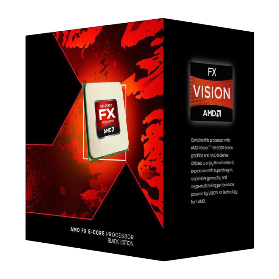 Amd Fx 8350 Cpu Am3 4 0ghz 8 Core 125w 16mb Cache 32nm Black Edition No Graphics Consolekillerpc