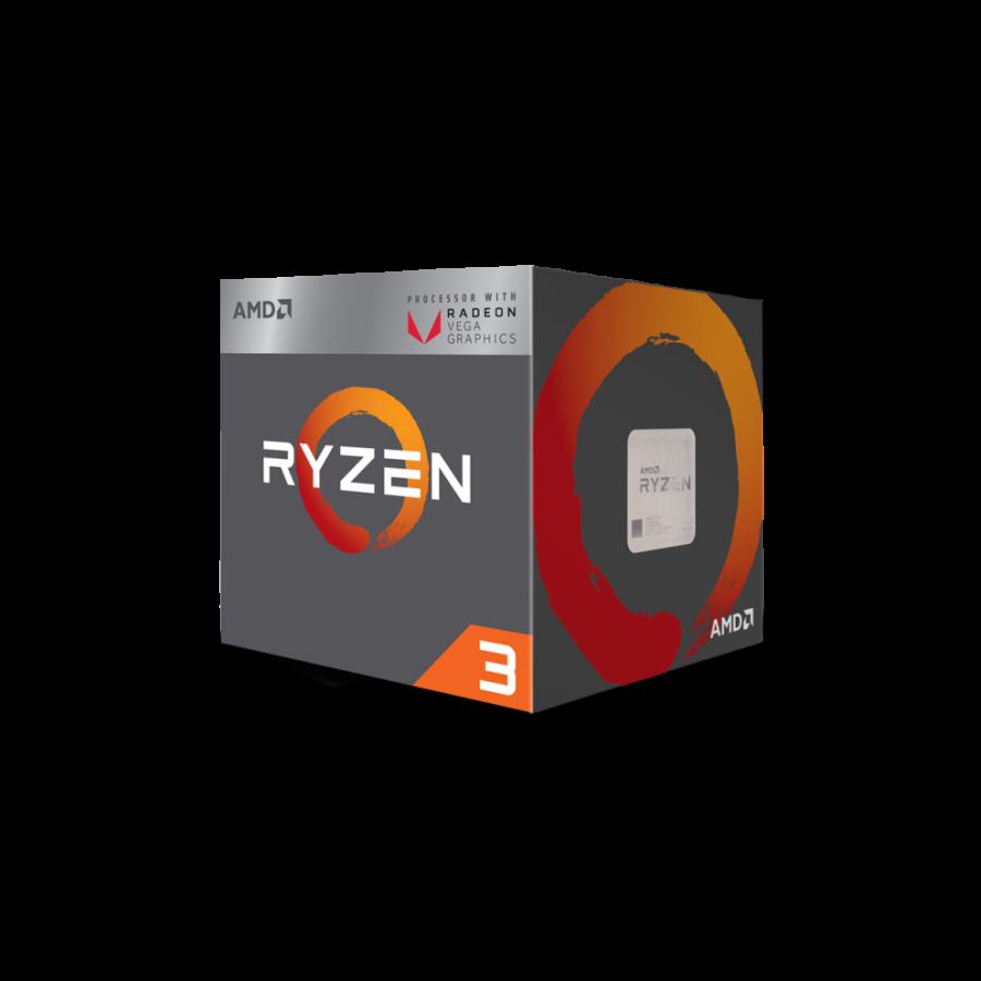 AMD Ryzen 3 2200G CPU with Wraith Cooler, AM4, 3.5GHZ, Quad Core, 65W, 6MB Cache, 14nm, VEGA 8 Graphics
