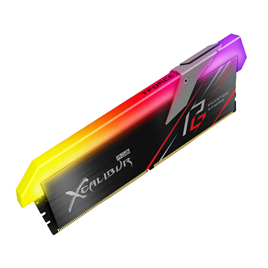 Asrock T-FORCE XCALIBUR Phantom RGB LED 16GB Kit (2 x 8GB), DDR4, 3200MHz (PC4-25600), CL16, XMP 2.0, DIMM Memory