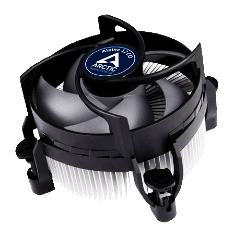Arctic Alpine 12 Compact Heatsink & Fan for Continuous Operation - Black & White