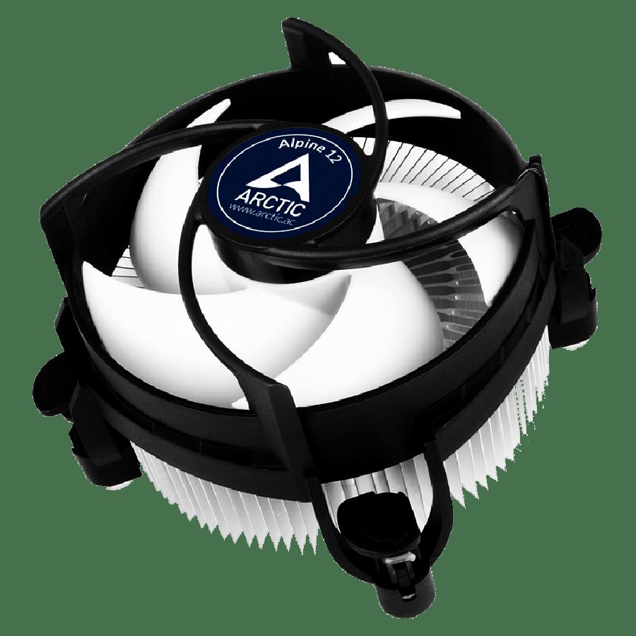 Arctic Alpine 12 Low Profile Compact Heatsink & Fan, Intel 115x Sockets, Fluid Dynamic Bearing - Black & White