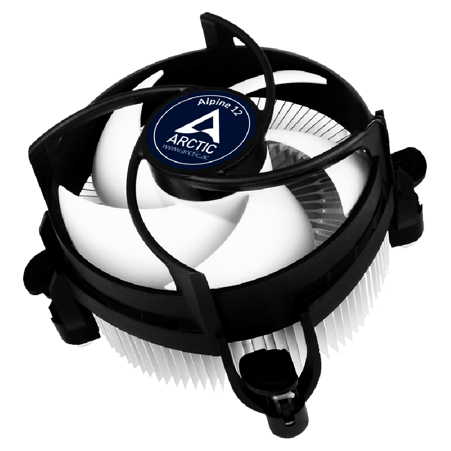 Arctic Alpine 12 Compact Heatsink & Fan, Intel 115x Sockets, Fluid Dynamic Bearing - Black