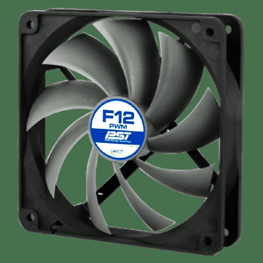 Arctic F12 12CM PWM Case Fan, 9 Blades, Fluid Dynamic - Black & White