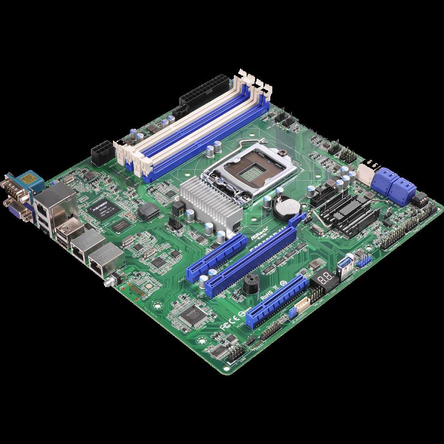 Asrock Rack E3C236D2I Server Board, Intel C236, 1151, Mini ITX, DDR4, Dual GB LAN, IPMI LAN, Serial Port
